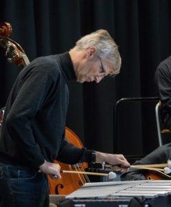 Musiker mit Vibraphon